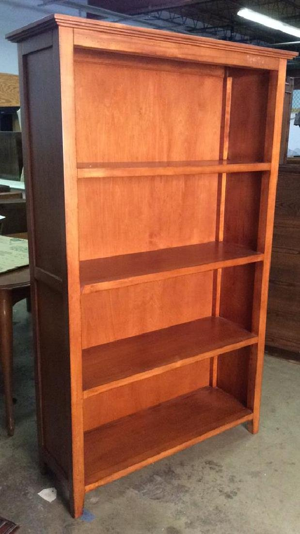 Light Brown Toned Wooden Bookshelf - 3