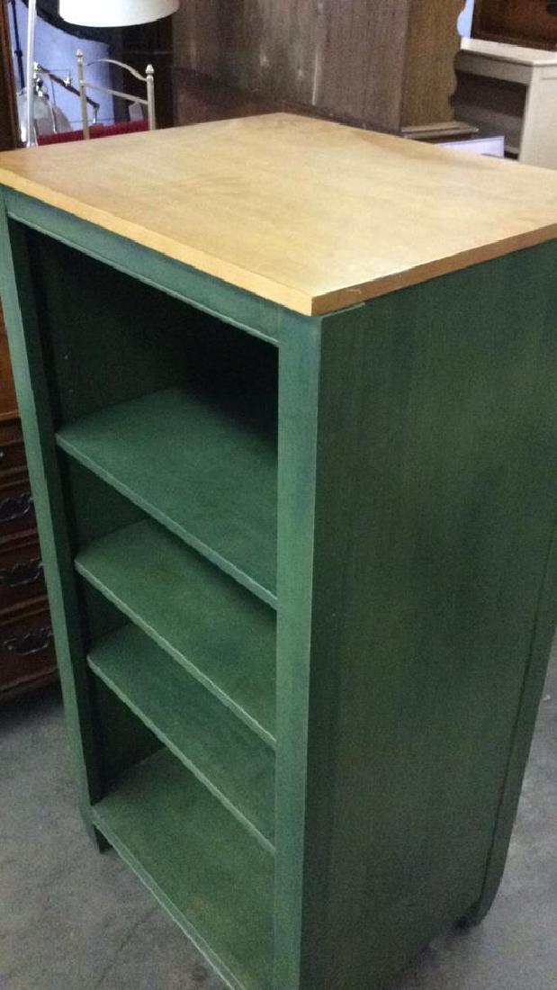 2 ETHAN ALLEN Green Toned Bookshelves Set - 2
