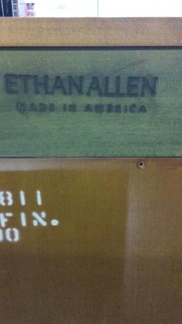 2 ETHAN ALLEN Green Toned Bookshelves Set - 3