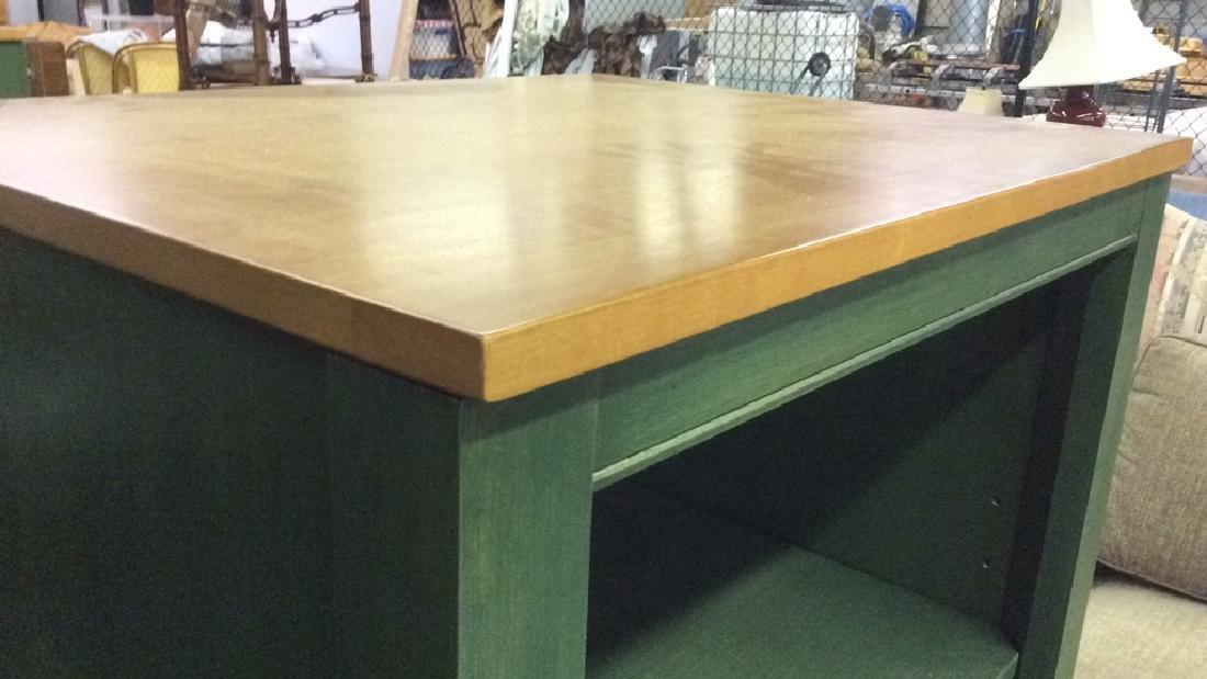 2 ETHAN ALLEN Green Toned Bookshelves Set - 5