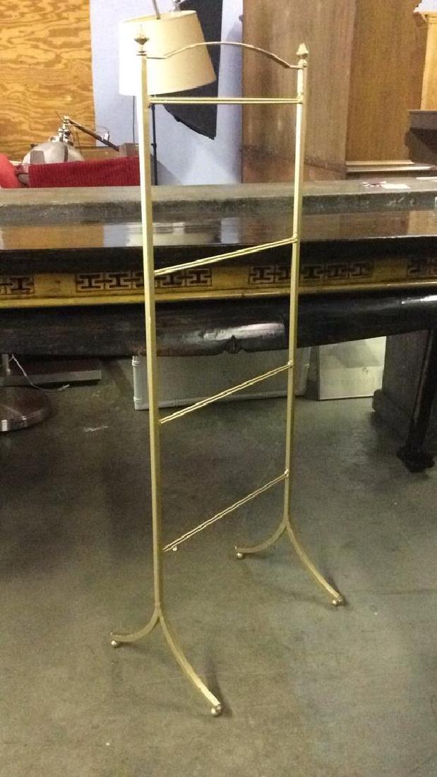 Gold Toned Brass Metal Valet Standing Rack - 2