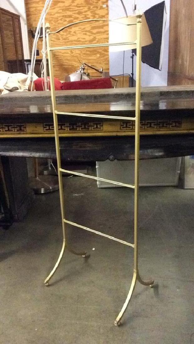 Gold Toned Brass Metal Valet Standing Rack - 3