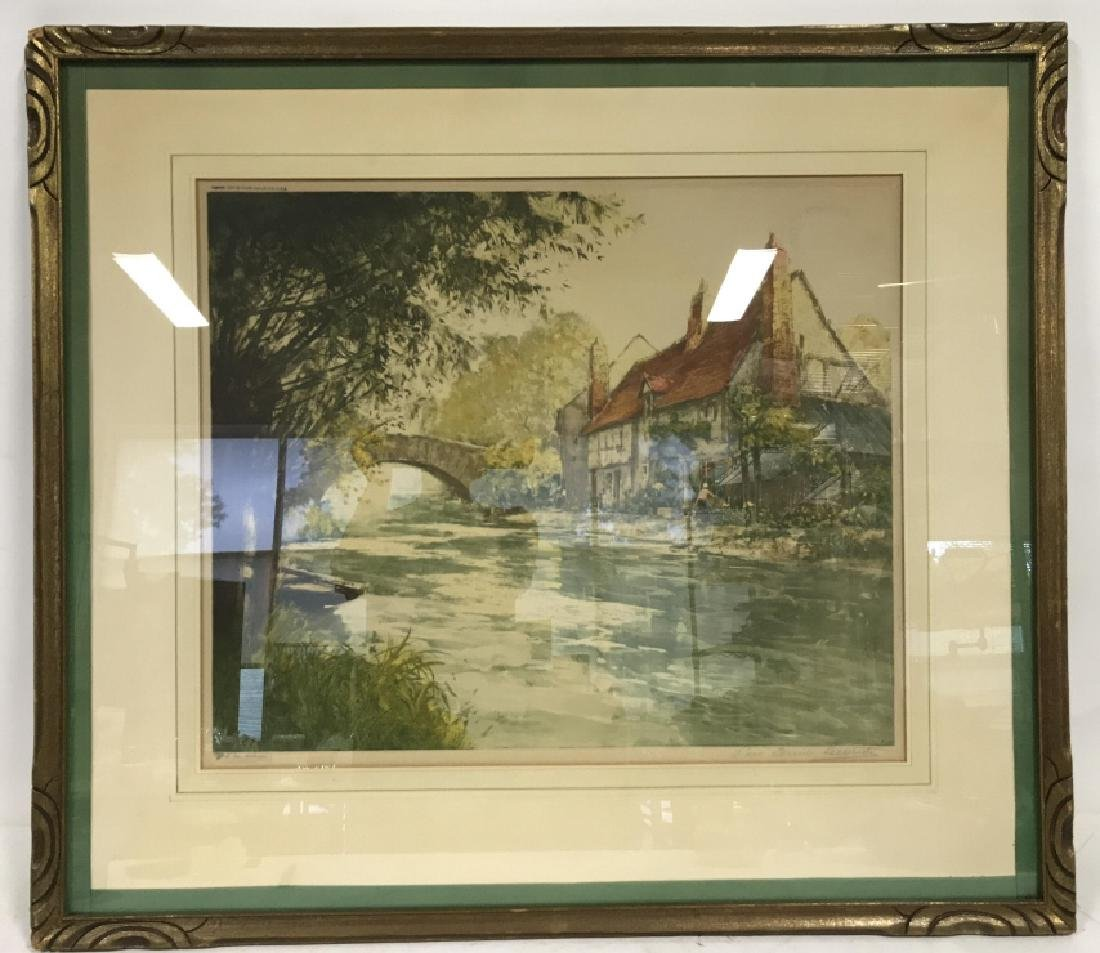 Camilla Lucas Framed Signed Etching Print - 2
