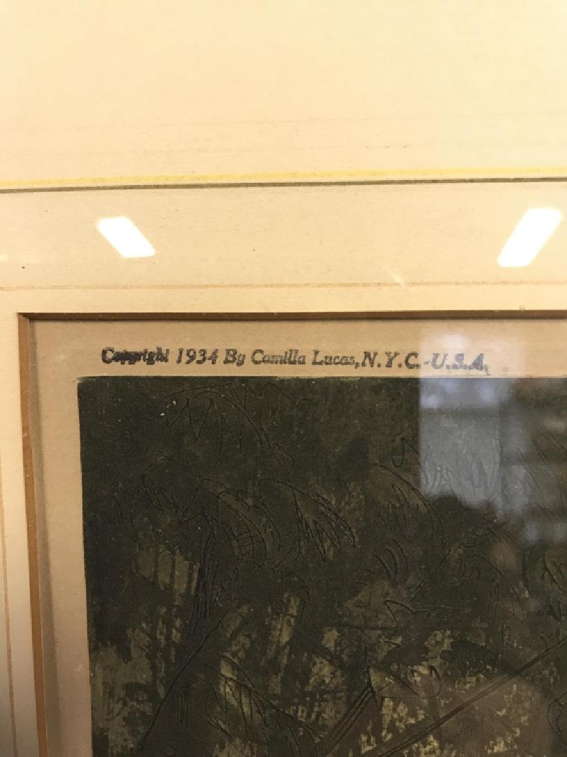 Camilla Lucas Framed Signed Etching Print - 3