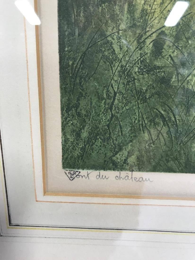 Camilla Lucas Framed Signed Etching Print - 5