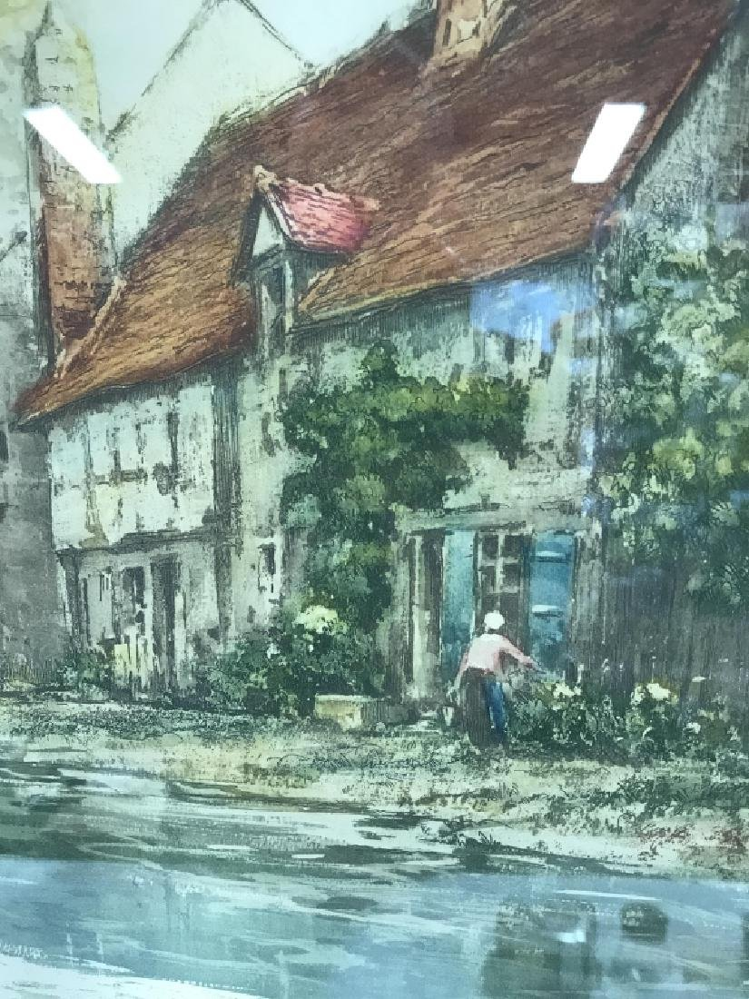 Camilla Lucas Framed Signed Etching Print - 6