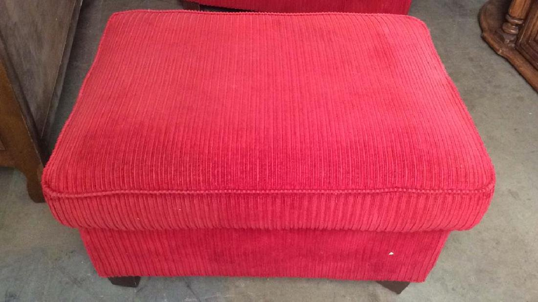 Lot 2 NORWALK FURNITURE Armchair & Ottoman, USA - 3