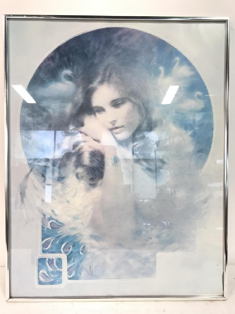 Framed Art Print Portrait of Young Woman