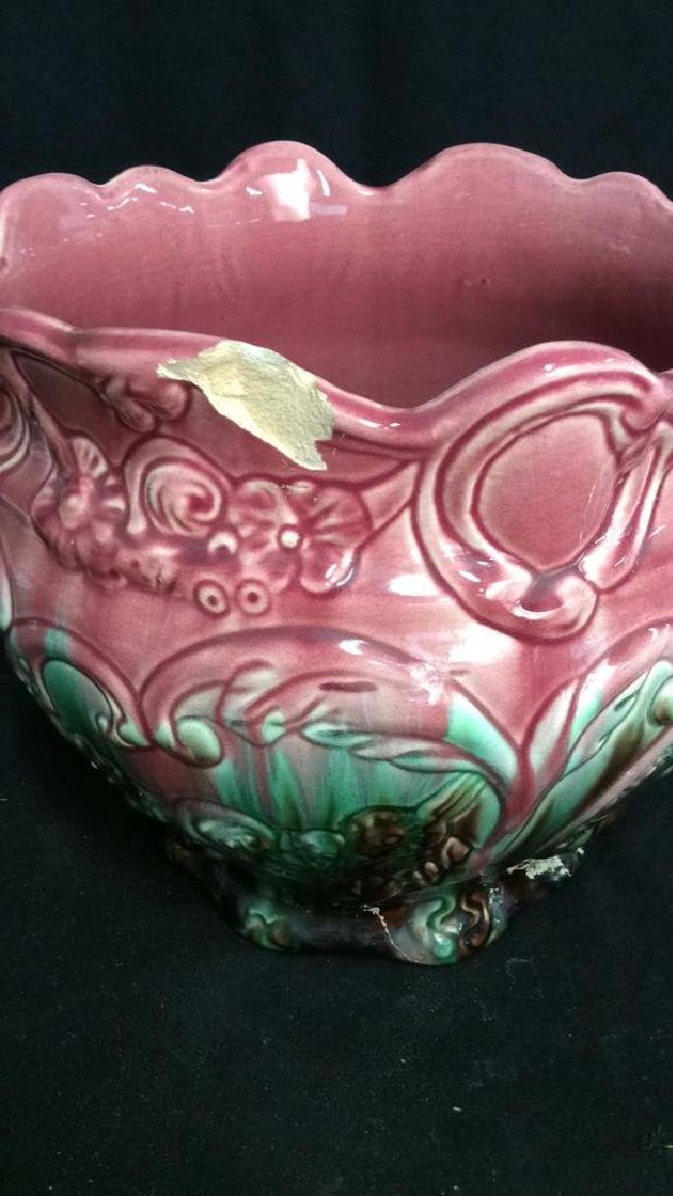 Pink and Green Glazed Weller Pottery Vase - 4