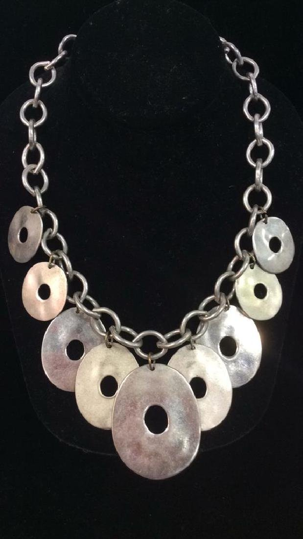 Lot 4 Assorted Silver Toned Metal Necklaces - 2