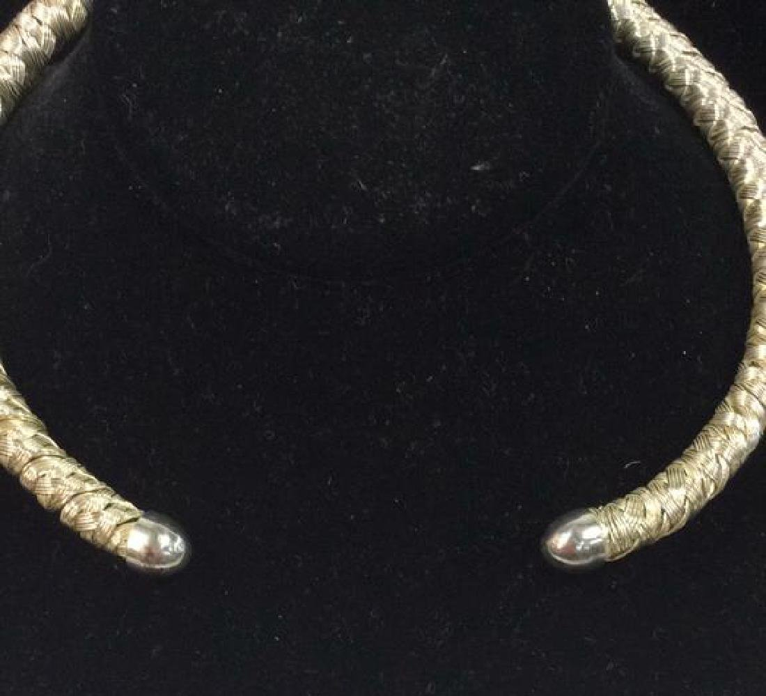 Lot 4 Assorted Silver Toned Metal Necklaces - 5