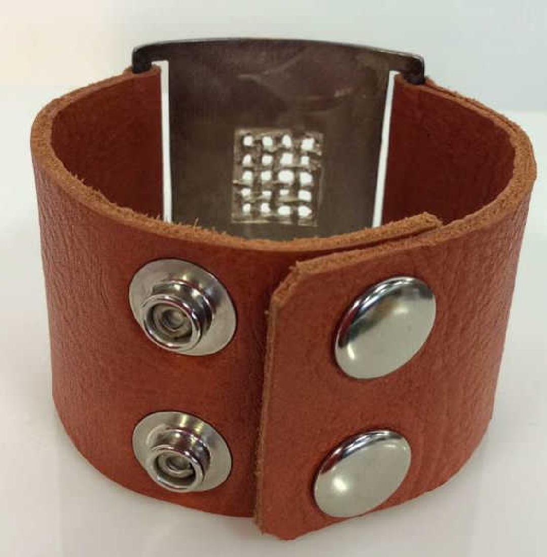 RLK Signed Sterling Silver Cuff Bracelet - 2