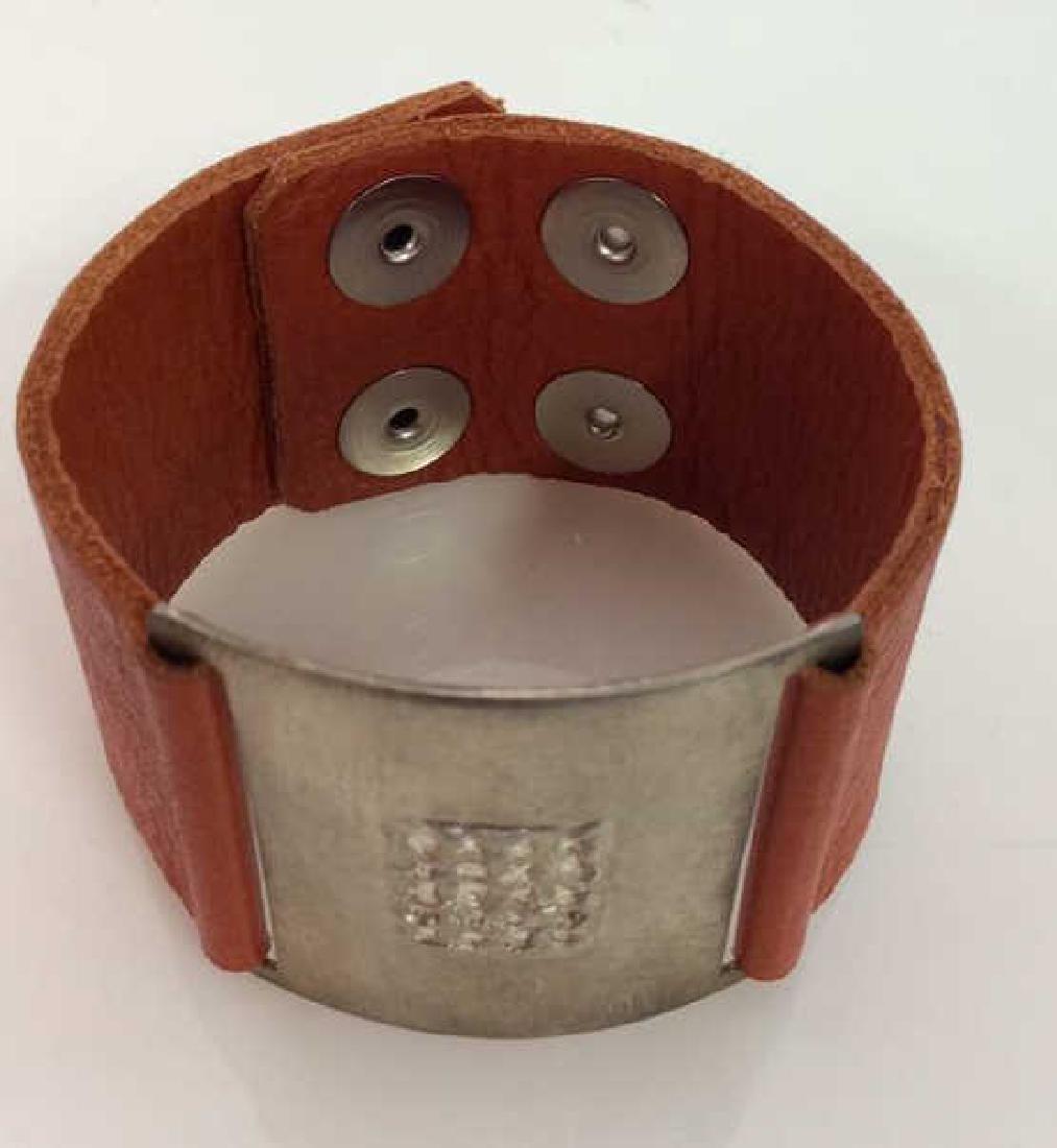 RLK Signed Sterling Silver Cuff Bracelet - 3