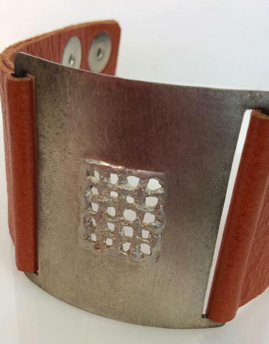 RLK Signed Sterling Silver Cuff Bracelet - 8
