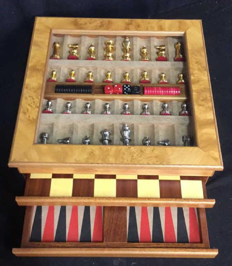 Chess Backgammon Wooden Game Box, Italy - 4