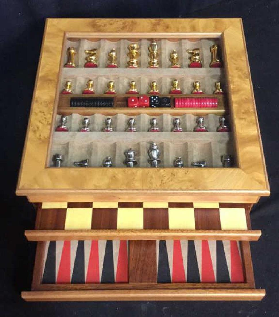 Chess Backgammon Wooden Game Box, Italy - 5