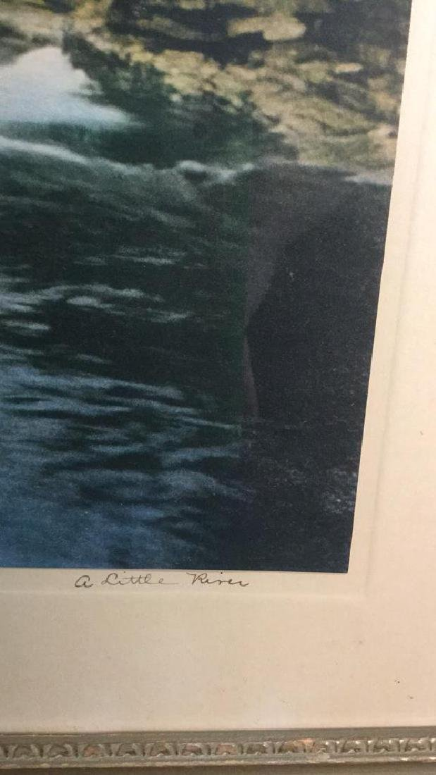 Framed Print Of Wallace Nutting's A Little River - 3