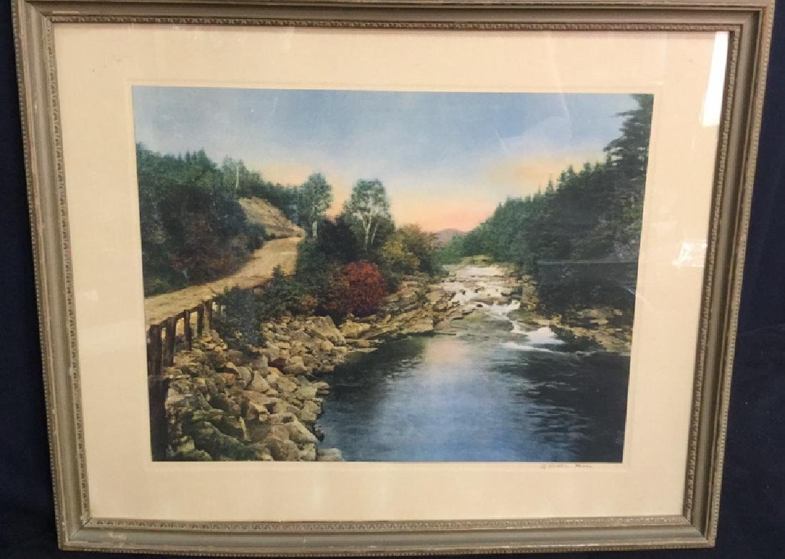 Framed Print Of Wallace Nutting's A Little River - 8
