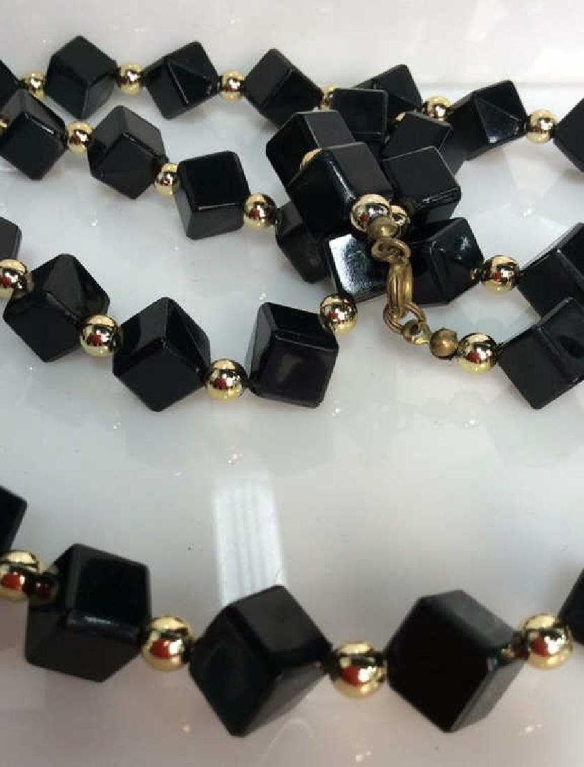 Costume Jewelry Cube Beaded Necklace - 4