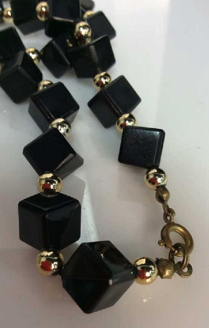 Costume Jewelry Cube Beaded Necklace - 5