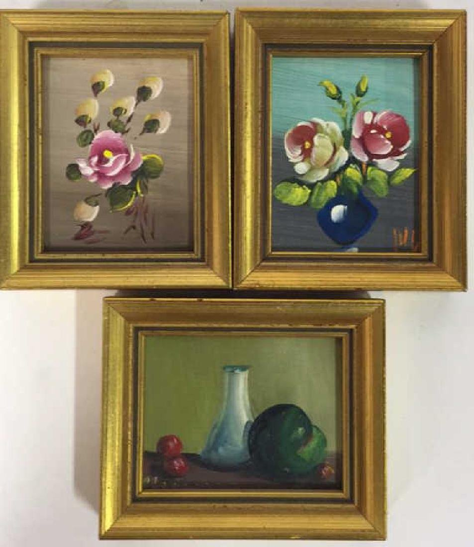 3 Small Framed Paintings, Spain