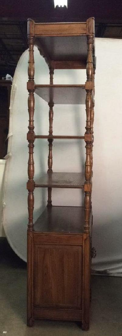 Carved Wooden What not Display Shelf - 6