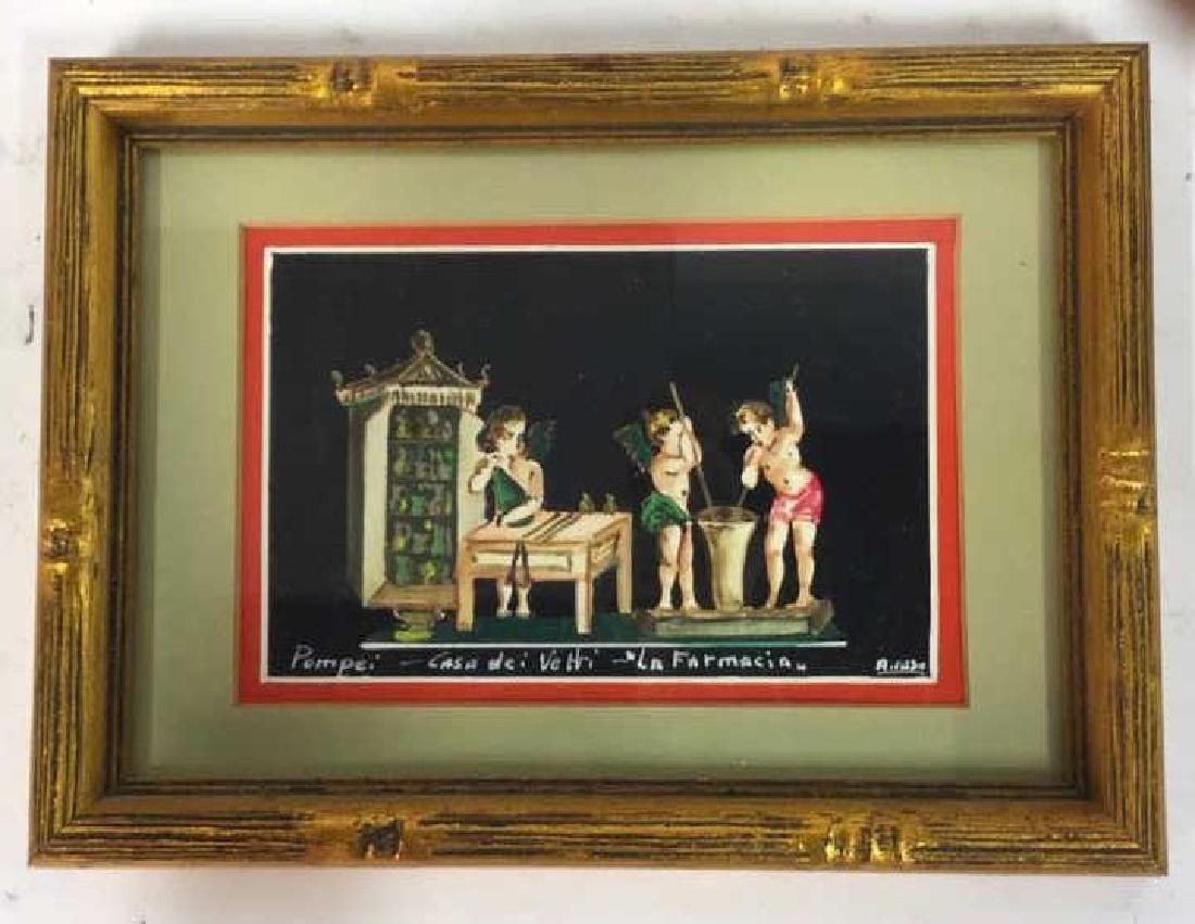 2 Framed Italian Paintings, A. CASO - 10