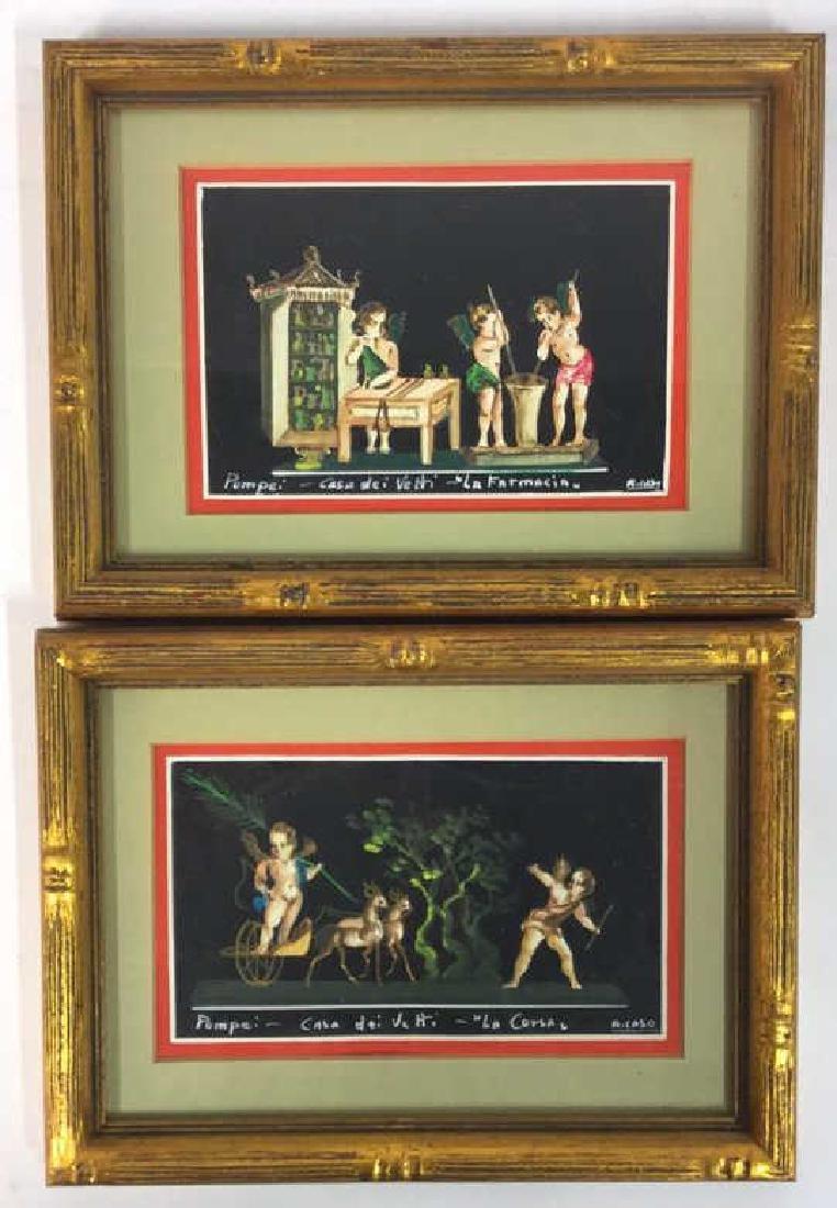 2 Framed Italian Paintings, A. CASO