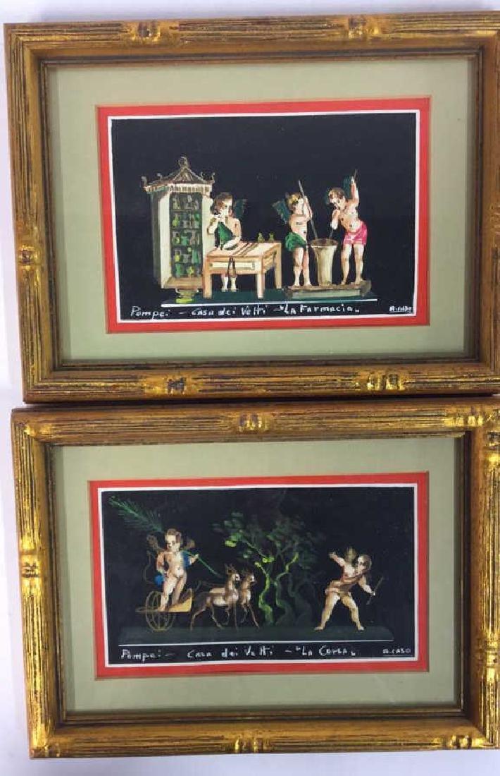 2 Framed Italian Paintings, A. CASO - 2