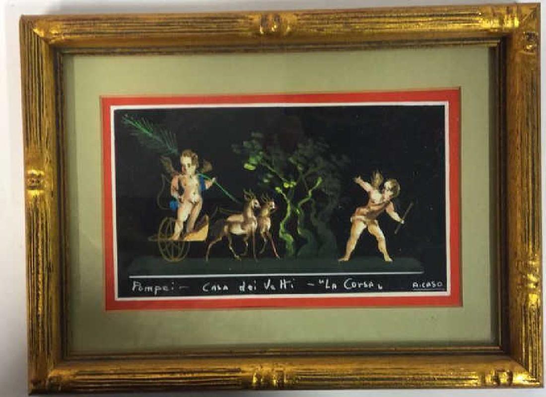 2 Framed Italian Paintings, A. CASO - 3