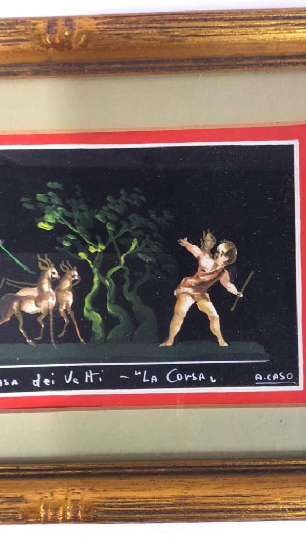 2 Framed Italian Paintings, A. CASO - 6