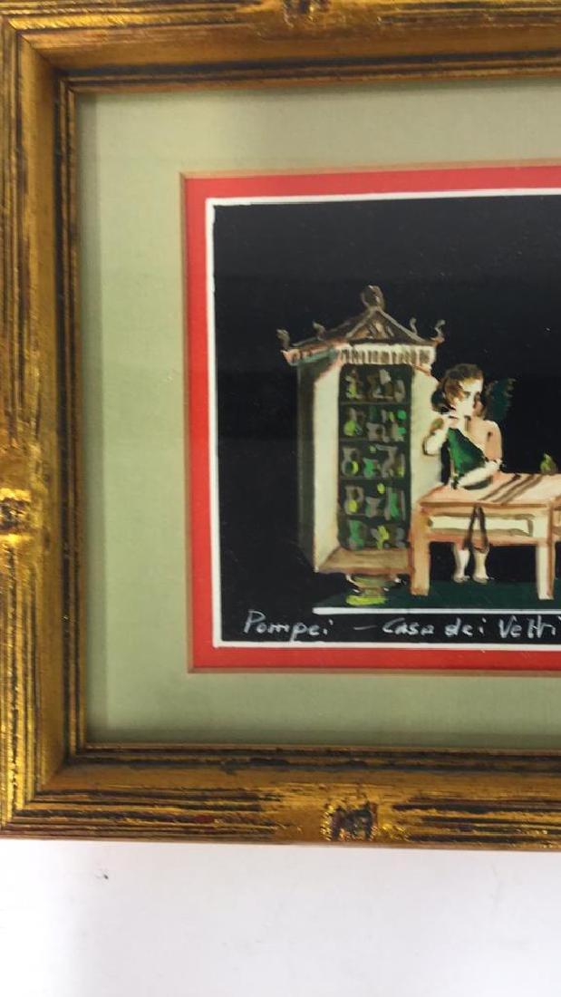 2 Framed Italian Paintings, A. CASO - 7