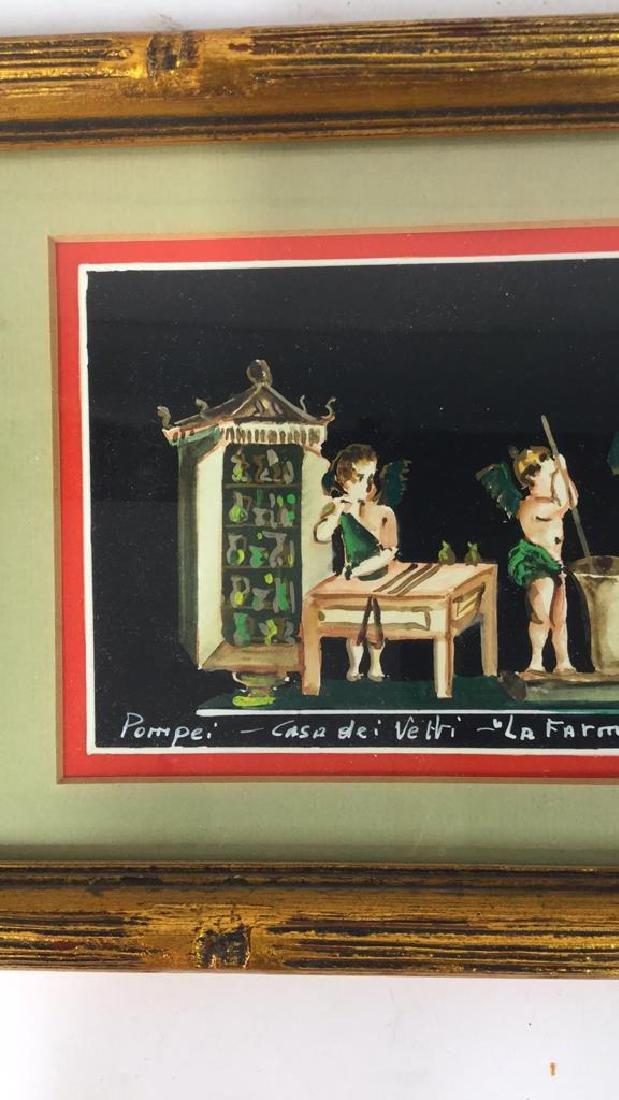 2 Framed Italian Paintings, A. CASO - 8