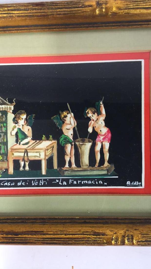 2 Framed Italian Paintings, A. CASO - 9