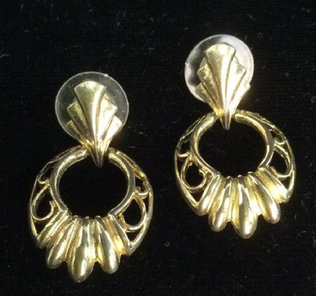 Lot 5 Gold Toned Costume Jewelry - 6