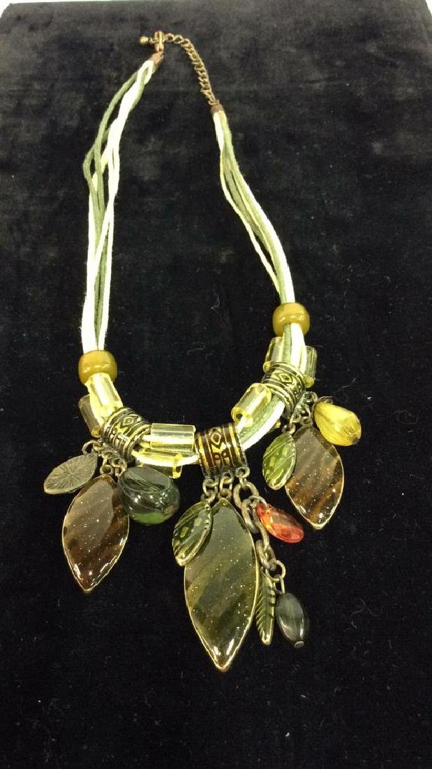 Lot 4 Beaded Necklaces Estate Costume Jewelry - 7