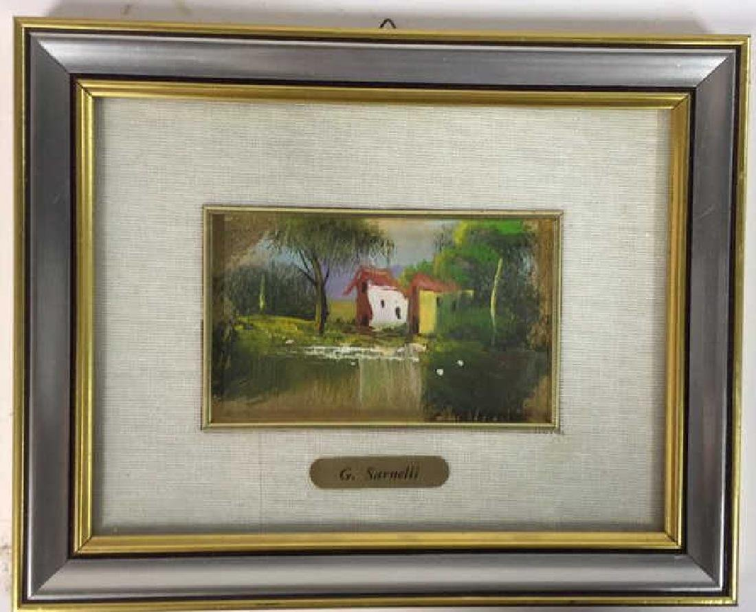 G. SARNELLI Framed Oil Painting, Italy - 2