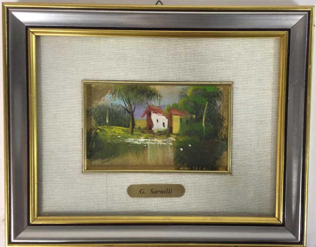 G. SARNELLI Framed Oil Painting, Italy - 3