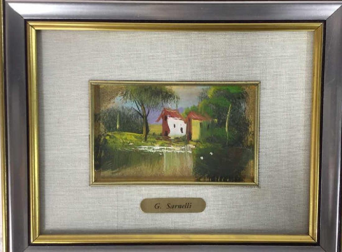 G. SARNELLI Framed Oil Painting, Italy - 4