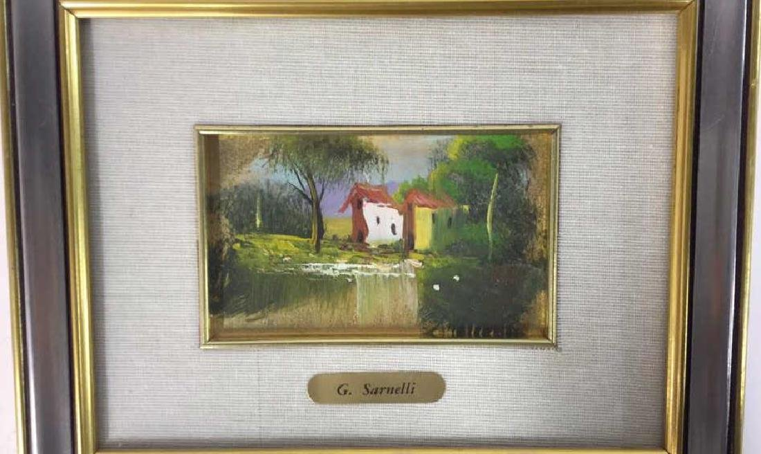 G. SARNELLI Framed Oil Painting, Italy - 5