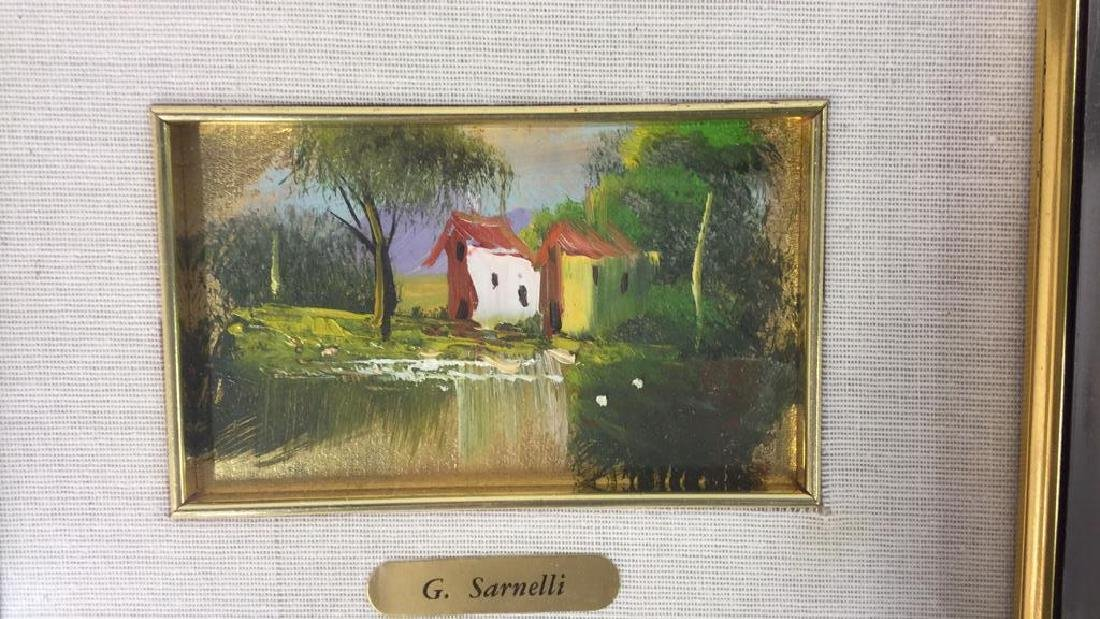 G. SARNELLI Framed Oil Painting, Italy - 6