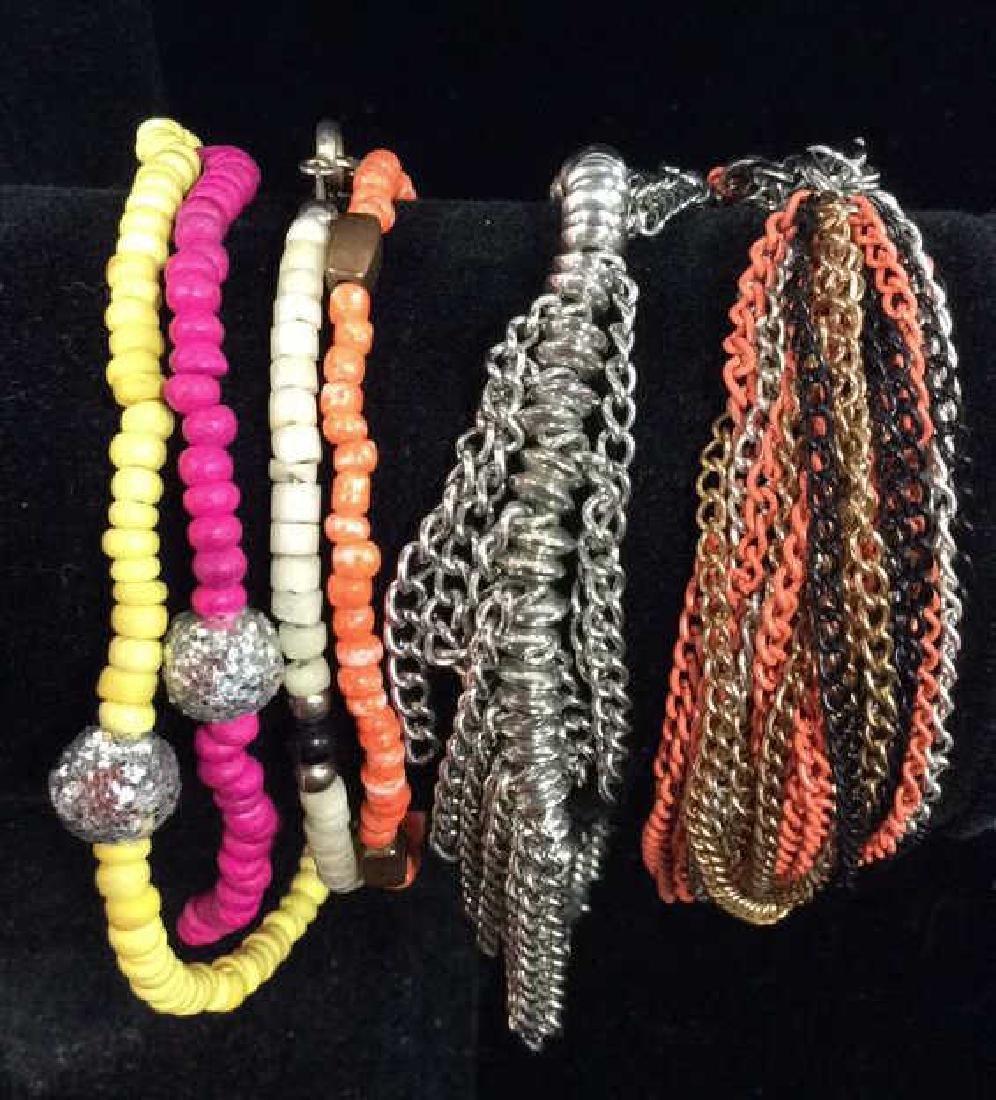 Lot 6 Assorted Women's Bracelets Jewelry - 3