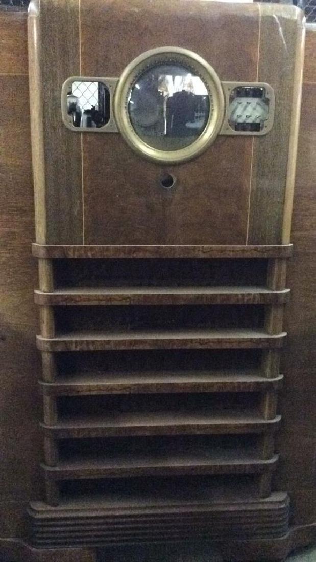 Art Deco Style Vintage Wooden Floor Radio - 2