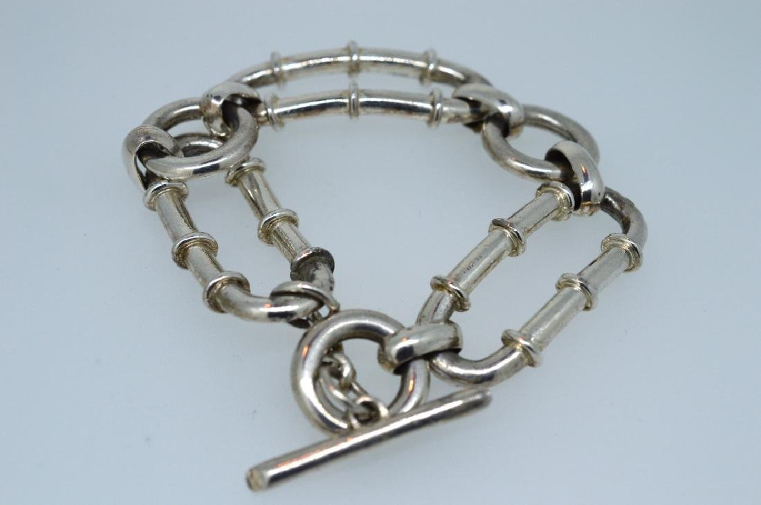 "Ladies 7.25"" Silver Plated Bracelet - 3"