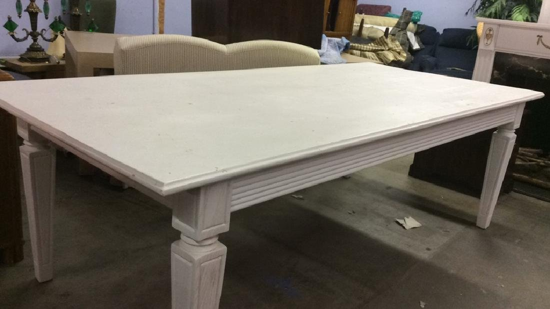 White Toned Wooden Dining Room Table - 2