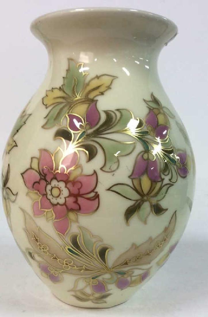 Hungarian Painted Porcelain Vase Vessel