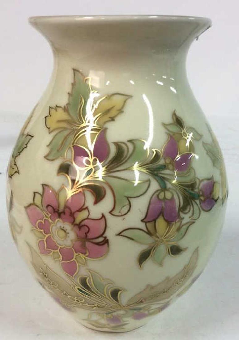 Hungarian Painted Porcelain Vase Vessel - 2