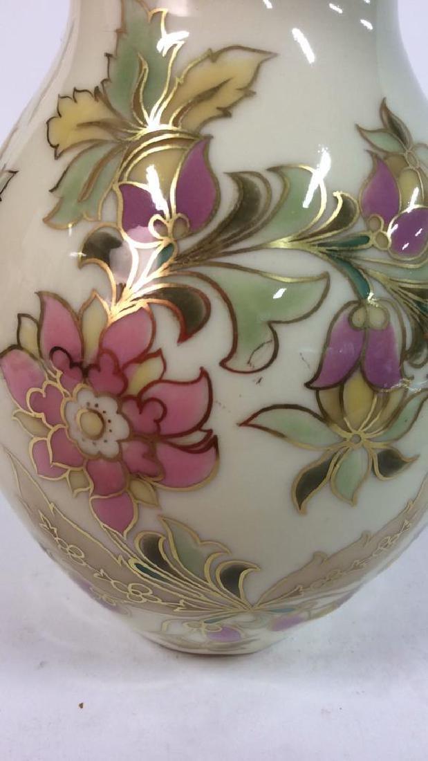 Hungarian Painted Porcelain Vase Vessel - 3