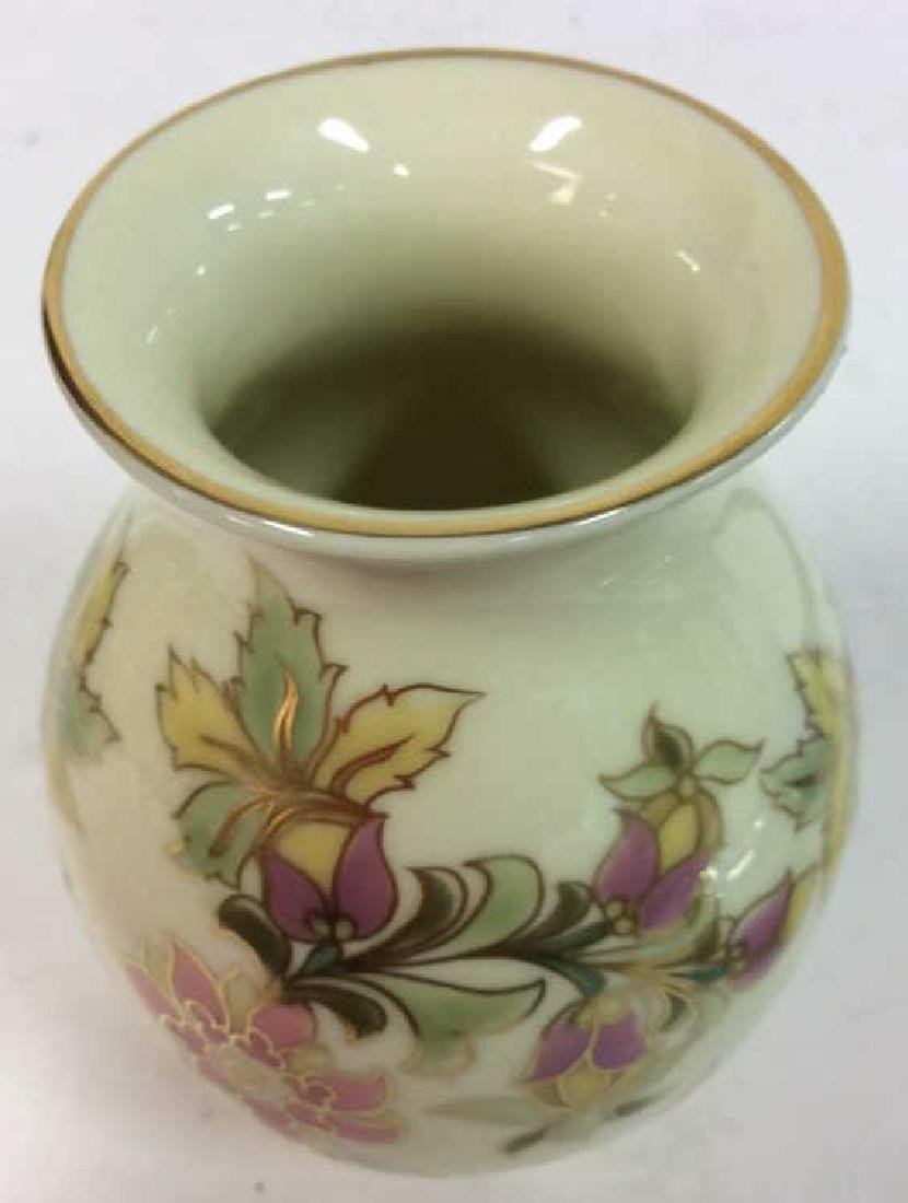 Hungarian Painted Porcelain Vase Vessel - 4