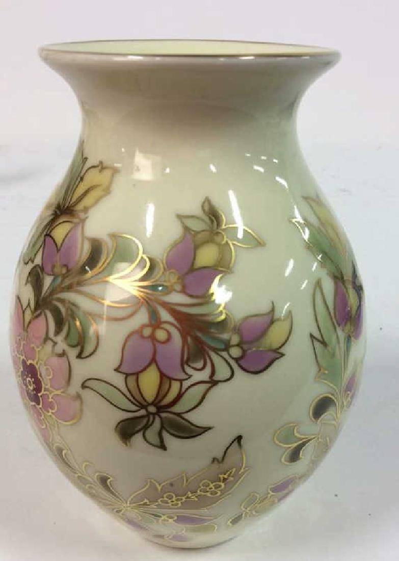 Hungarian Painted Porcelain Vase Vessel - 6
